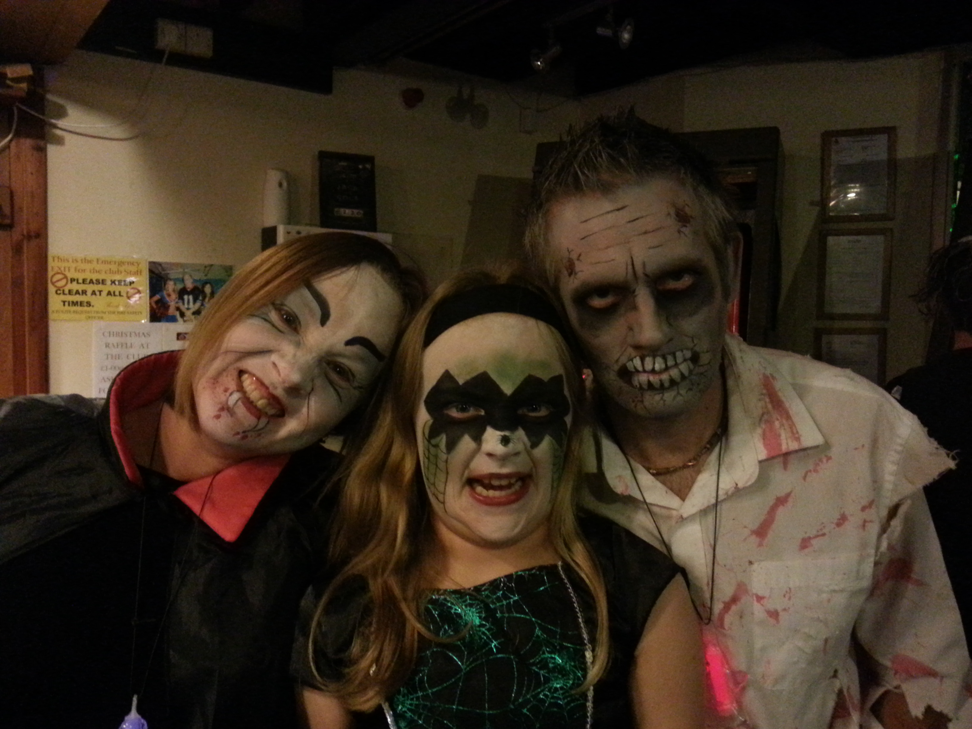 Halloween Family witch, vampire and zombie